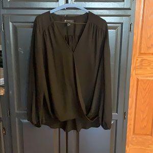 Women International Concepts high-low blouse sz XL